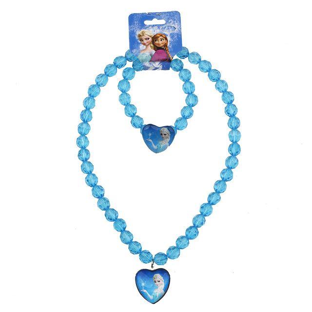 2016 new Baby Девушки ювелирные изделия ожерелье Эльза анна Дети hello kitty бисер аксессуары принцесса новый стиль Эльза ожерелье