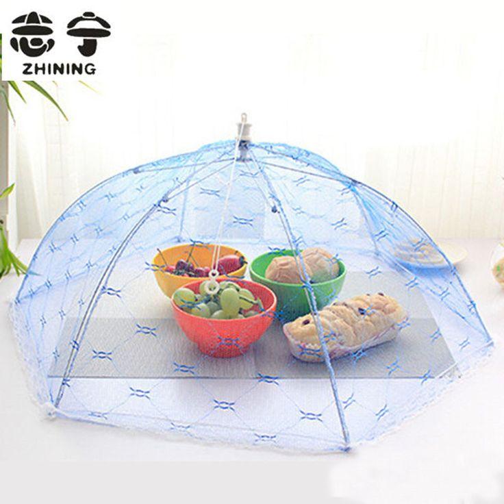 Питание обложки зонтик стиль муха москитная кухня диаметр 65 см с 33 инструменты для приготовления пищи еда крышка шестигранной марли покрытие стола еда купить на AliExpress