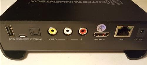 Review EntertainmentBox T8 V Android TV BOX 2017 Version Back