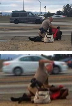 Police brutality against a black woman in LA