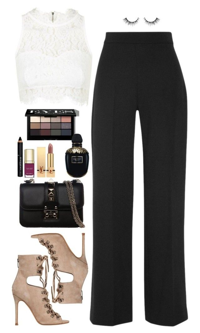 Sin título #2355 by namelessale on Polyvore featuring polyvore fashion style Topshop Lela Rose Kendall + Kylie Valentino Bobbi Brown Cosmetics Givenchy Yves Saint Laurent Alexander McQueen Dolce&Gabbana clothing
