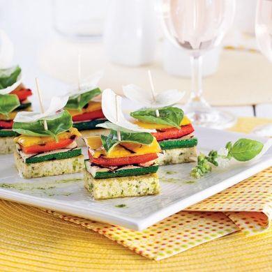 Canapés de légumes et tofu grillés - Recettes - Cuisine et nutrition - Pratico Pratique - Entrée - Tapas