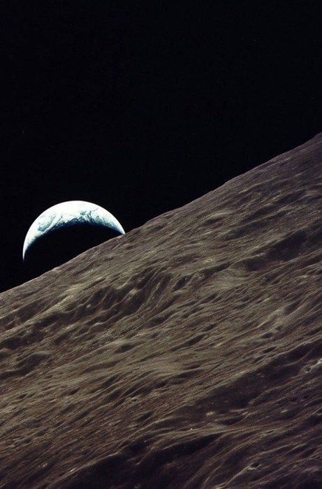 Looking Towards Earth From Apollo 17