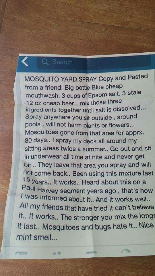 Mosquito repellent (how do you lose weight)