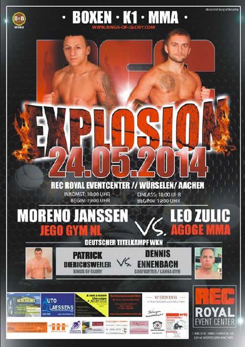 Rec Explosion International Fight Night in Wurselen, Germany #WKN #Kickboxing #MMA #Boxing