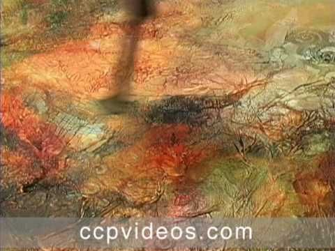Jacqueline Sullivan texturizers and layers with acrylics, mediums and metallics.