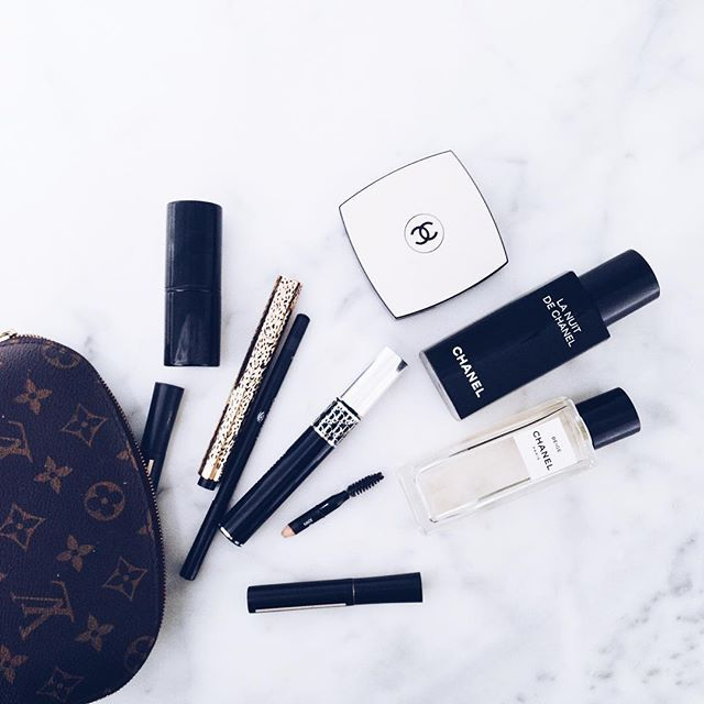 FOR THE BEAUTY || Louis Vuitton make up bag essentials - Chanel & Dior || NOVELA BRIDE...where the modern romantics play & plan the most stylish weddings... www.novelabride.com (instagram: @novelabride)