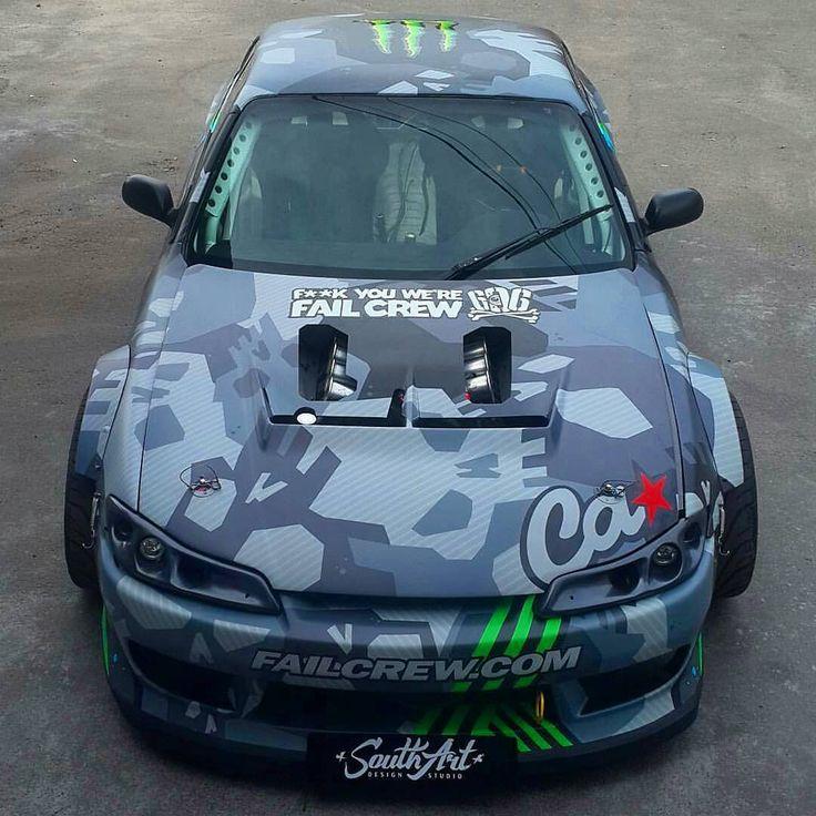 """LS7 S14 The ultimate drift car!  Owner: @tvardovskymax #kissingpavement"""