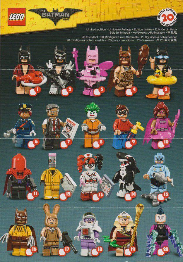 You Choose! LEGO Batman Movie Series 71017 Minifigures