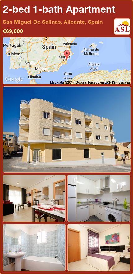 2-bed 1-bath Apartment in San Miguel De Salinas, Alicante, Spain ►€69,000 #PropertyForSaleInSpain