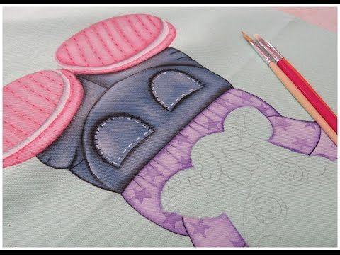 Pintura em tecido - Zebrinha Jurema - Parte 3 - YouTube