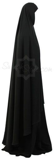 Full Length Khimar (Black) by Sunnah Style - www.sunnahstyle.com This could totally replace an abaya...and is significantly cheaper