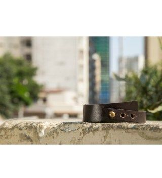 JT Brown Leather Bracelet