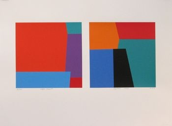 After Seurat diptych   Michael Smither  2007, Screen print edition of 62