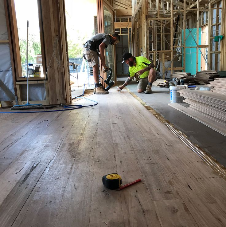 Today we started on the 130 blackbutt at our Brunswick project getting ready for some magic from @bjsfloors #naturalbuildvic #melbournearchitecture #blackbutt #flooring #sustainable #timber #melbourne #carpentry #builder #construction #carplordsofthenorth #mapei #floor #architecture #archilovers #brunswick #brunswickwest