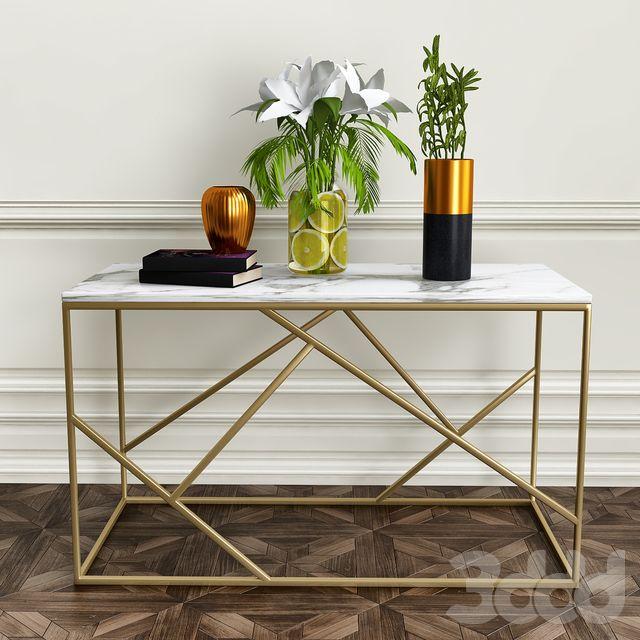 Журнальный стол с декоративный набором_2 | Мебель, Идеи ...