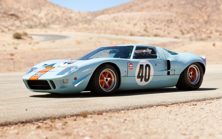 Ford, gt40, gulf oil, le mans, 1968, форд, суперкар, передок, классика