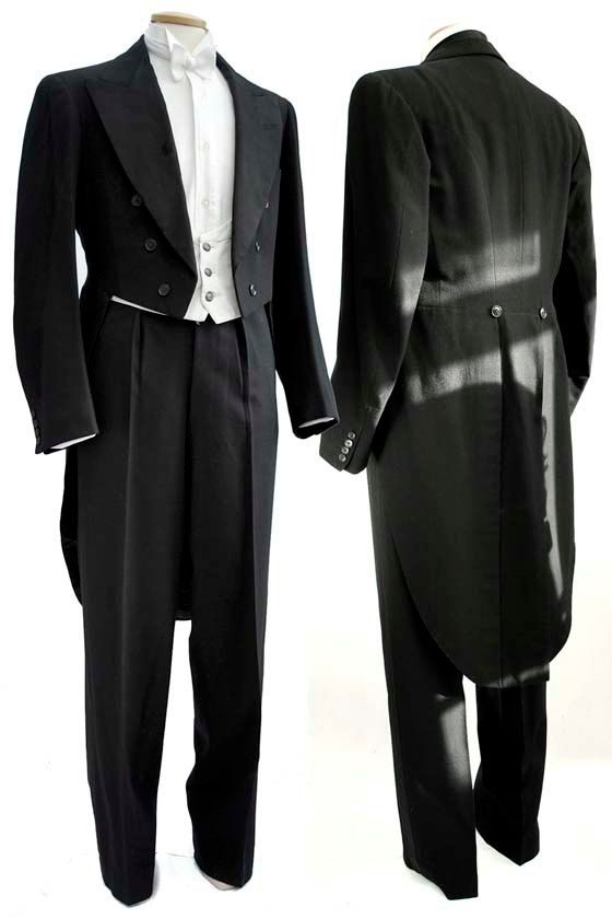 Mens Edwardian 1900s Fishtail Back Evening Dress door DillyDandy