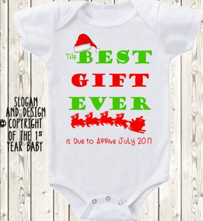 Christmas Pregnancy announcement baby by The1stYearBaby on Etsy