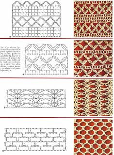 SINGLE POINT: Crochet openwork points
