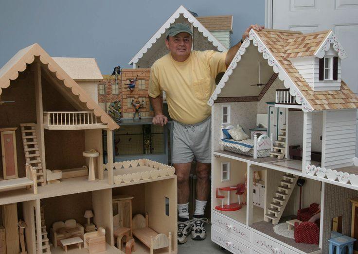 Martin specializes in building hand-crafted, solid-wood doll houses