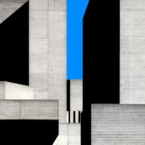 The beauty of one colour block. National Theatre, London