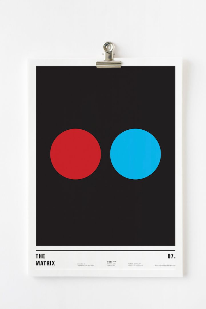 Using only circles famous films are cleverly turned into for Famous minimalist designers
