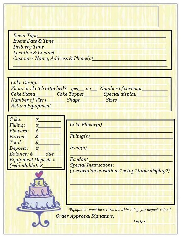 order form- just in case I do start a business