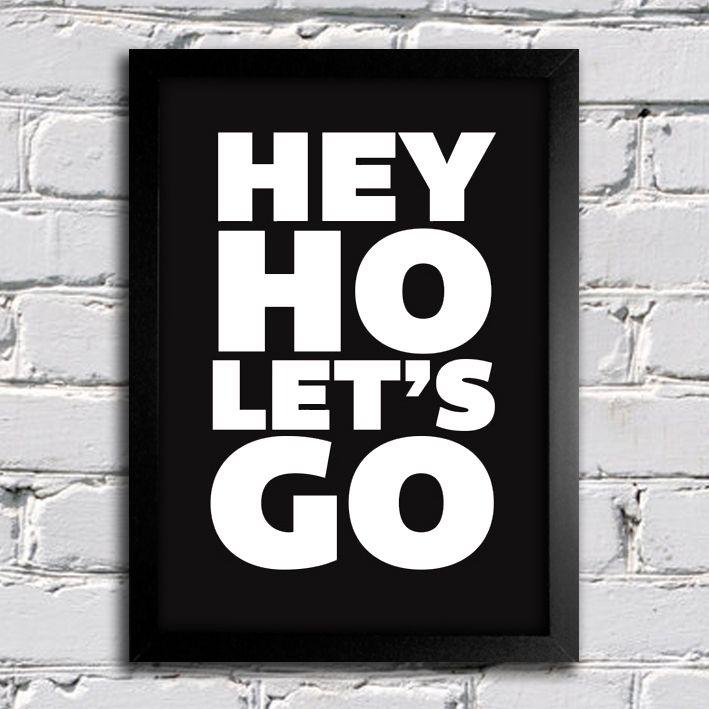 Poster Ramones Hey Ho Lets Go II