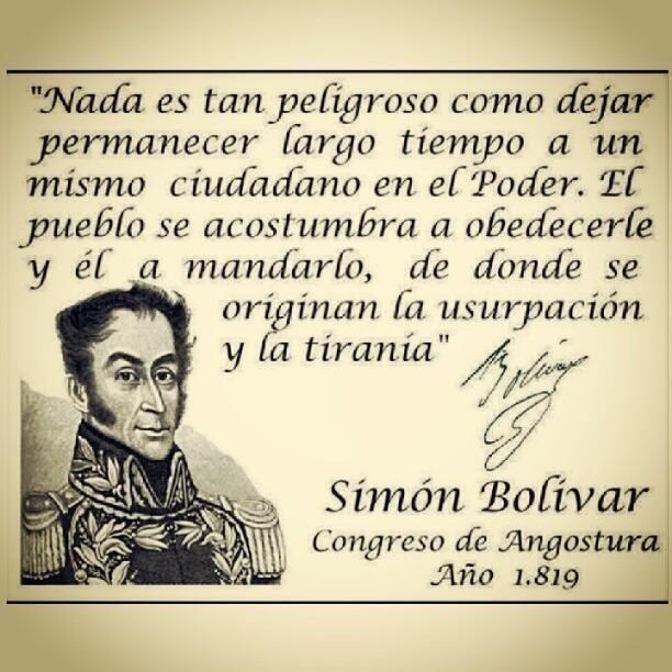 Poder - Tirania - Simon Bolivar