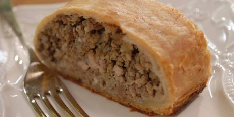 "Tourtiere with a Twist Yield:  two 9-inch/23-cm pies or 2 tourtière ""logs""."