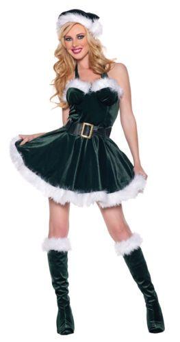 SEXY SANTAS HELPER elf stocking christmas miss claus womens costume plus XL