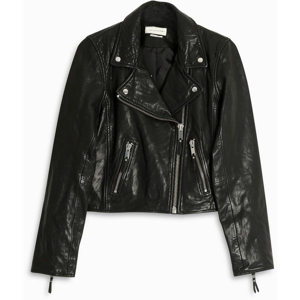 ISABEL MARANT ETOILE Barry Leather Jacket ($931) ❤ liked on Polyvore featuring outerwear, jackets, leather biker jackets, collared leather jacket, green leather jacket, real leather jackets and leather jackets