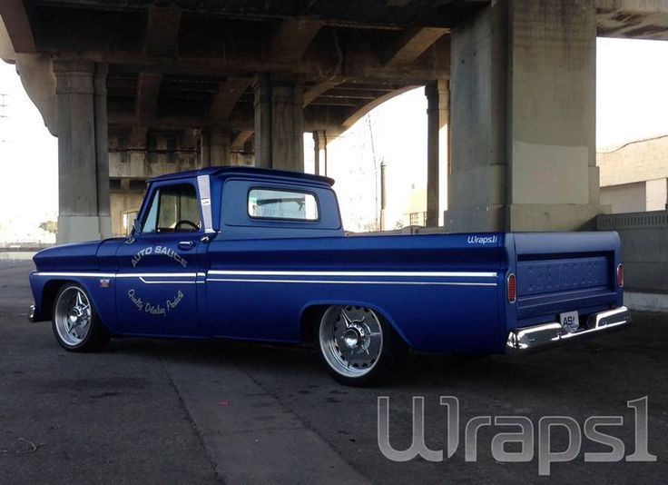 Great Color Change Wrap On This 66 Chevy C10 By Wrapsone