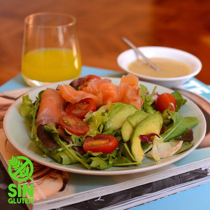 Las 25 mejores ideas sobre ensalada de salm n ahumado en - Aperitivos de salmon ahumado ...