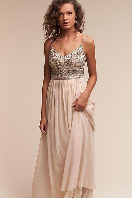 Fresh Anthropologie Aida Wedding Guest Dress A semi sheer midi skirt gives a vixenish slant
