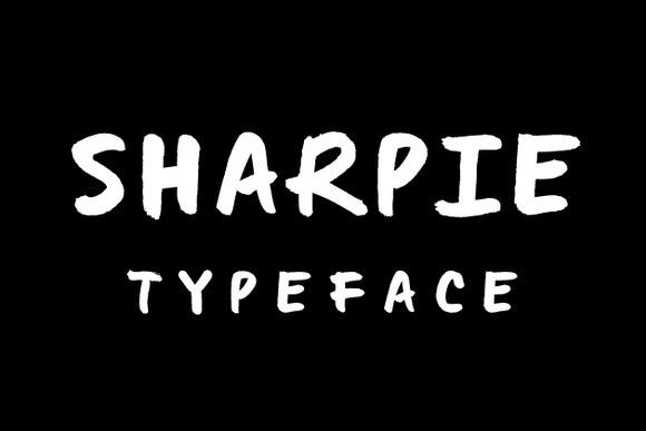 Sharpie Typeface by Gerren Lamson at Creative Market