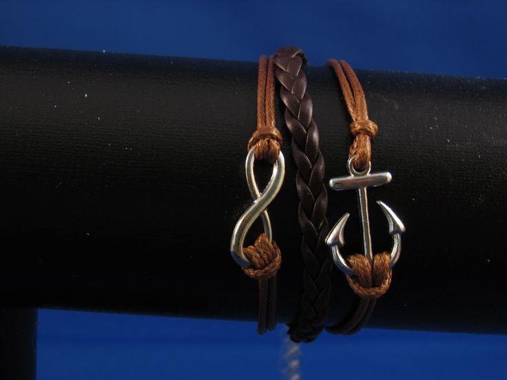 Armband bruin Artikelnummer: 0676 Prijs: € 4,95