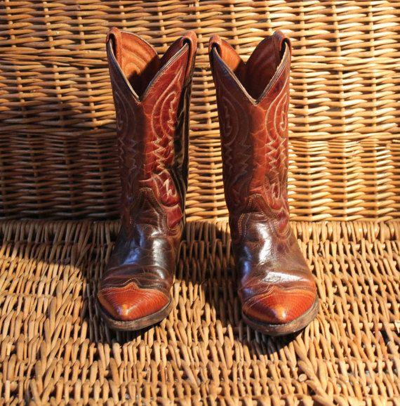 Bottes Cowboy / Bottes cowboy Double H 6 1/2 / par LeVintageEnfolie