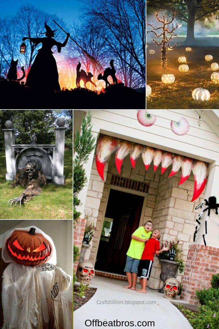 21 Spooky Awesome Diy Halloween Outdoor Decorations Halloween Outdoor Decorations Halloween Diy Outdoor Outdoor Halloween