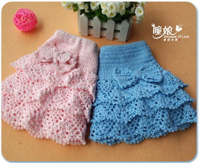 visual crochet charts for japanese crochet kids skirt