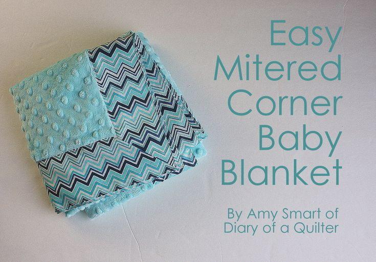 Easy Mitered Corner Baby Blanket