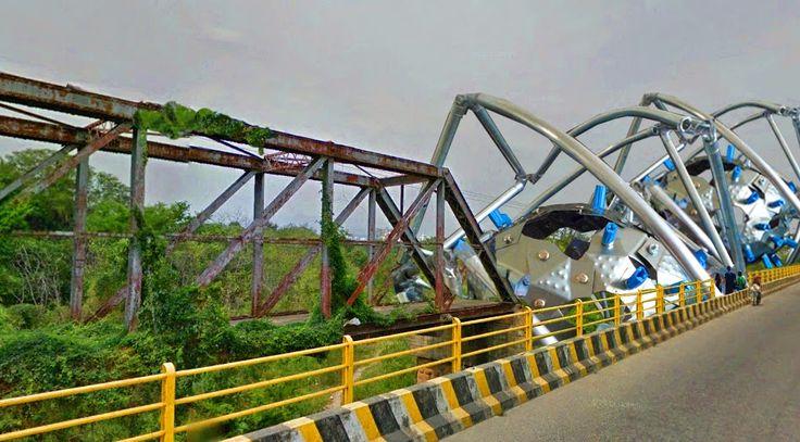 foto montaje con el prototipo 2 del habitáculo , intervención puente san luis , utilización zona cultural.