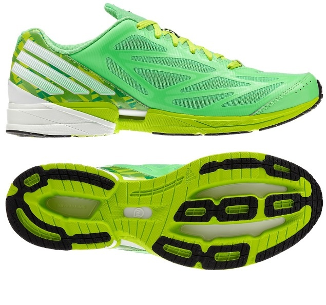 Adidas Running shoe. Love the green and the shape!