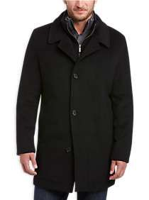 Mens Outerwear, Clothing - Pronto Uomo Black Tic Classic Fit Car Coat - Men's Wearhouse