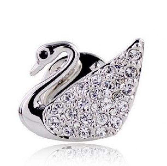 Pin broche de cristal cisne por R$53,90   Bijuterias     TriClick