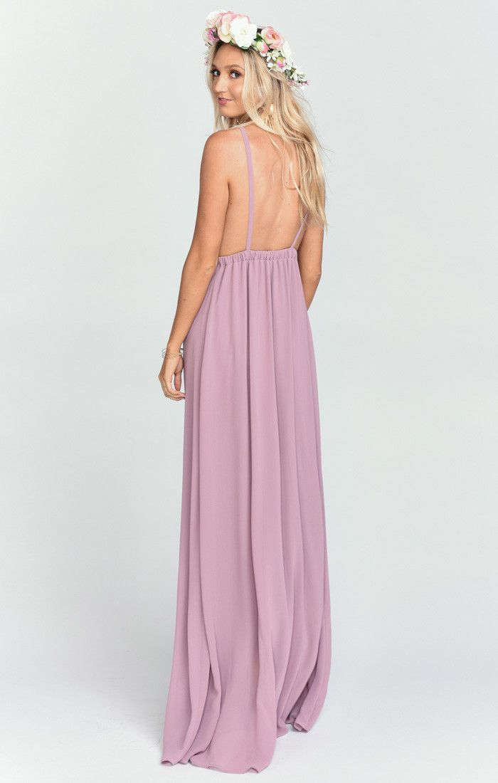 d155c507b0 Amanda Maxi Dress ~ Antique Rose Chiffon