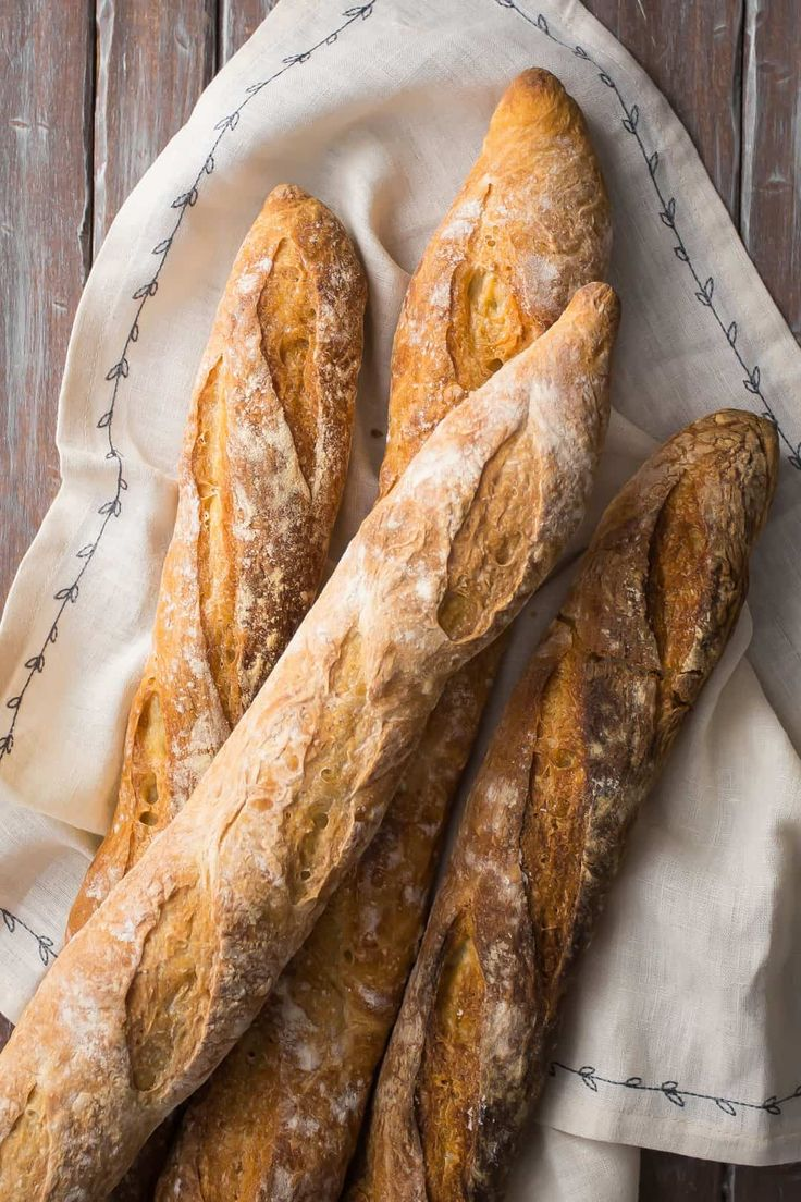 Crusty French Baguettes Baguette Recipe Bread Recipes