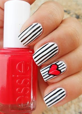 uñas #decoracion #corazon
