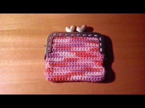 Como hacer paso a paso un Monedero con boquilla cuadrada a ganchillo o crochet - YouTube